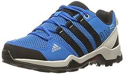 adidas Outdoor Boys\' AX2 Hiking Boot, Onix/Black/Shock Blue, 4.5 M US Big Kid