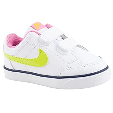 Pre-School Girls Nike Capri 3 White/Pink Casual Trainers Size 9.5
