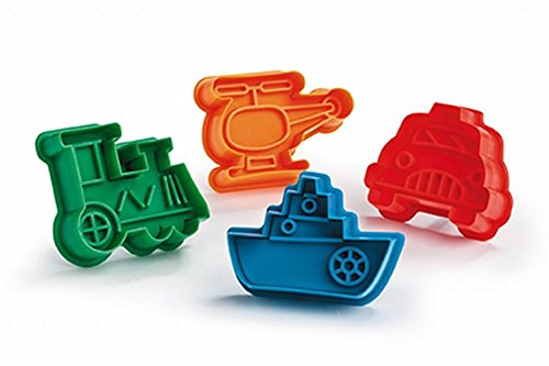 Biscuit Cutter Set (Car Helicopter Train Boat) (Train Cast Iron Steamer compare prices)