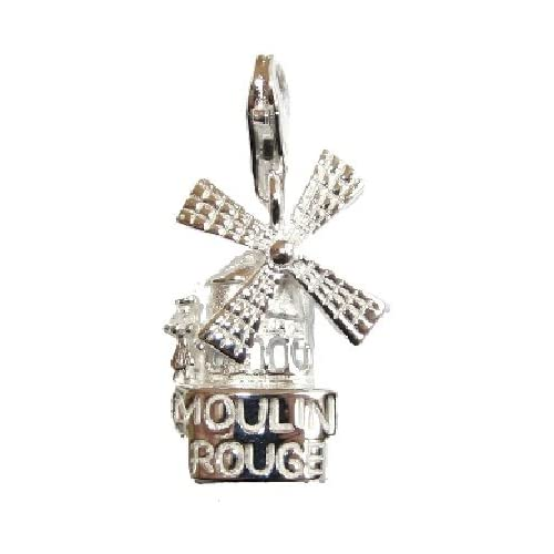 : My-Lucky-Charms - Sterling Silver Charm Paris Moulin Rouge: Jewelry