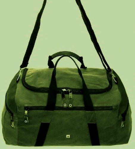 Reisetasche klassisch aus Hanf HF004 khaki PURE