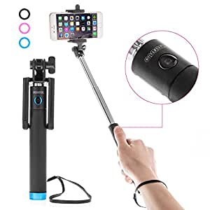 caseflex ultra compact bluetooth selfie stick extendable action monopod 18cm. Black Bedroom Furniture Sets. Home Design Ideas