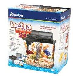 Aqueon Aquarium Betta-Bow 2.5 Gallon Acrylic Aquarium Kit