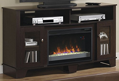 Check Out This ClassicFlame 26MM4995-PE91 La Salle TV Stand for TVs up to 65, Oak Espresso (Electri...