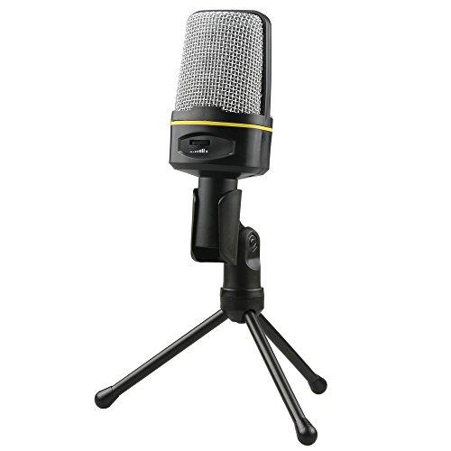 Fotga Condenser Sound Studio Recording Microphone Mic W/ Stand For Pc Laptop Gaming Skype Msn