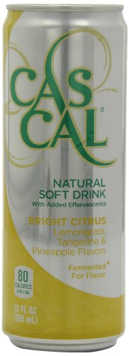 Cascal Fermented Soda Bright Natural Soft Drink, Citrus, 12-Ounce (Pack of 12)
