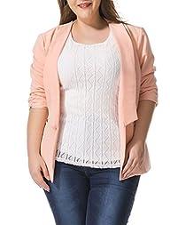 Allegra K Women Plus Size 3/4 Sleeves…