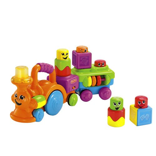 Fisher-Price Peek-a-Boo Stack 'n Surprise Blocks Choo-Choo - 1