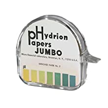 Micro Essential Lab Hydrion pH Test Paper Dispenser, Single Jumbo Roll