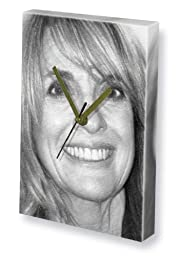 LINDA GRAY - Canvas Clock (A4 - Signed by the Artist) #js001