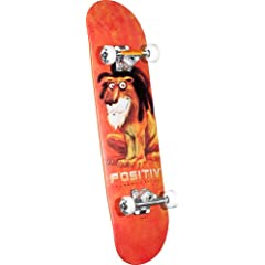 Buy POSITIV The Breeze Lion Complete Skateboard (Orange) by POSITIV