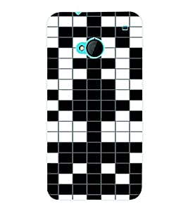 ColourCraft Pattern Back Case Cover for HTC ONE M7