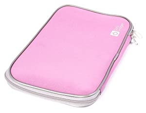 "DURAGADGET Secure Pink ""Travel"" Water Resilient Neoprene Tablet Case With Dual Zips For Kurio 10S , Archos 101 XS 2, Polaroid MID4Q10, Polaroid MIDCD10, Polaroid MIDC410"