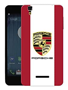 "Humor Gang Supercar - Red Printed Designer Mobile Back Cover For ""Yu Yureka Plus"" (3D, Matte, Premium Quality Snap On Case)"