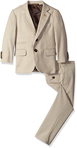 Isaac Mizrahi Little Boys Textured 2 Piece Suit, Beige, 4