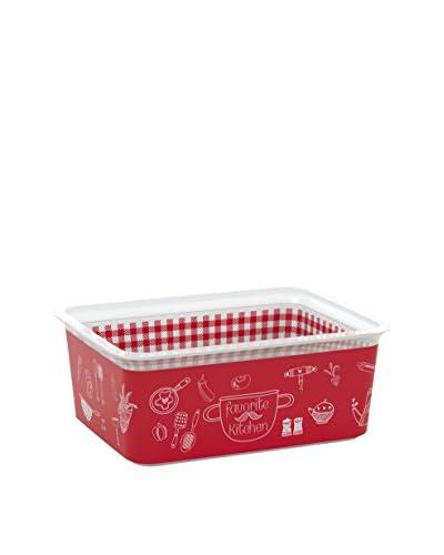 Kis Set Contenitore Organizzazione Spazi 5 Pezzi Chic Box Rosso/Bianco