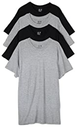 Fruit of the Loom Men\'s Crew Neck T-Shirt (Pack of 4), Black/Grey, Medium