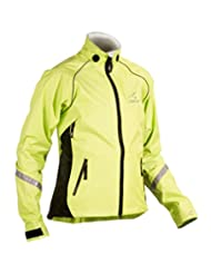 Showers Pass Women's Club Pro Waterproof Cycle Jacket - Yellow/Black, Large
