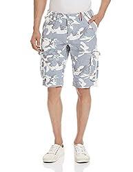 Superdry Men's Cotton Shorts (5054265275593_M71MT000F1_Large_Ice Camo)