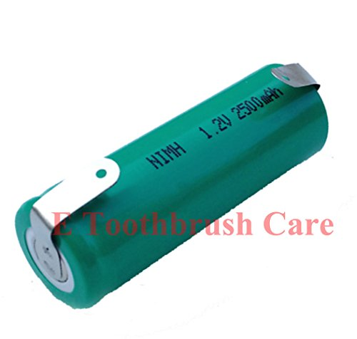 Replacement Battery For Braun Oral-B Triumph Professional Care Toothbrush, 2500 Mah, Nimh, 48 Mm Long, 17 Mm Diameter