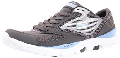 Skechers Women's Go Run Runner,Charcoal Blue,6 M US