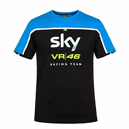 Slim Crew Collar All Match MotoGP Men T Shirts VR46 racing sky S-XL (Lil Martin Guitar compare prices)