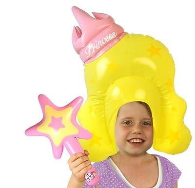 Spielzeug Kind Set Aufblasbar Prinzessin Princess Mit Percke Und Stab Kinderkostm bei aufblasbar.de