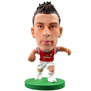 Arsenal F.C. SoccerStarz Koscielny- laurent koscielny- soccerstarz figure- 2 inches tall- with collectors card- in blister pack- official licensed product