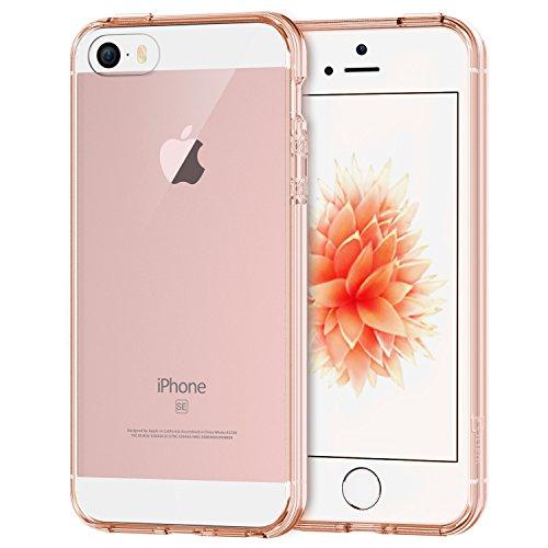 JETech iPhone 5 5s SEケース 衝撃吸収バンパー アンチスクラッチ クリア (ピンク)