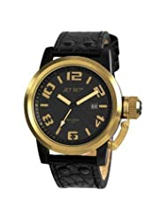 San Remo Men's Watch with Black Band and Gold Case
