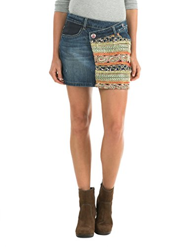 Desigual - FAL_ETHNIC, Gonna da donna, blu (blau - blau  (navy)), 38 IT (XS) (34 DE)