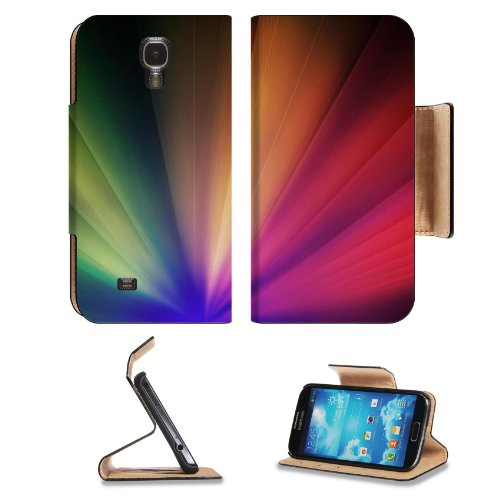 Light Iridescent Fan Colorful Glow Samsung Galaxy S4 Flip Cover Case With Card Holder Customized Made To Order Support Ready Premium Deluxe Pu Leather 5 Inch (140Mm) X 3 1/4 Inch (80Mm) X 9/16 Inch (14Mm) Luxlady S Iv S 4 Professional Cases Accessories Op