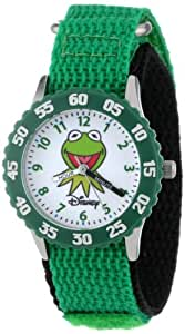 """Disney Kids' W000159 Muppets """"Time Teacher"""" Stainless Steel Watch with Green Nylon Band"""