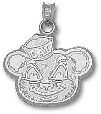 California (Berkeley) Golden Bears Oski Bear Pendant - Sterling Silver Jewelry by Logo Art