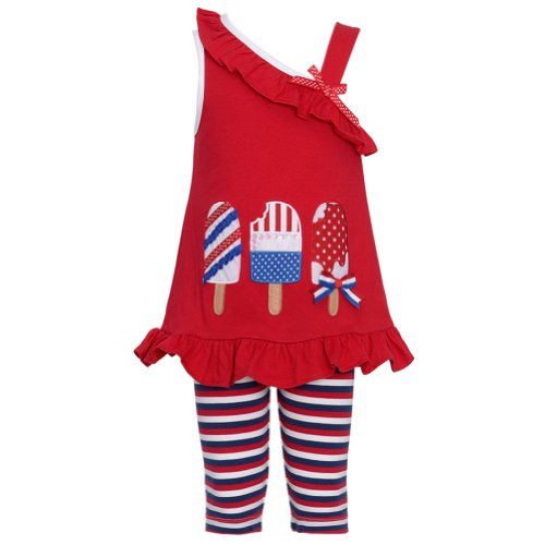 Rare Editions Red Popsicle 2 Piece Outfit Baby Toddler Girl 12M-4T