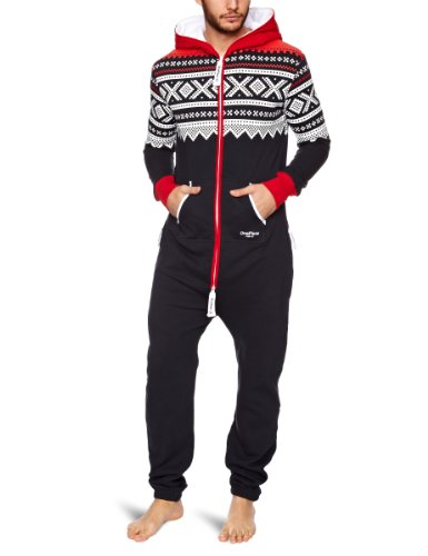 OnePiece - Jumpsuit Marius, Tuta intera, Colore Multicolore (Red/Navy/White), Taglia Small