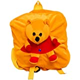 Vpra Enterprises Yellow Bear Soft Toy School Bag For Kids, Travelling Bag, Carry Bag, Picnic Bag, Teddy Bag
