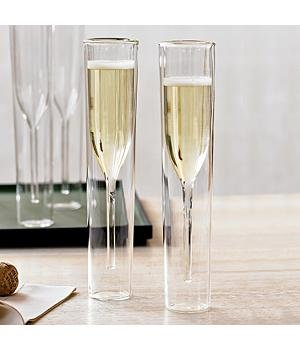 Inside-Out Champagne Glasses
