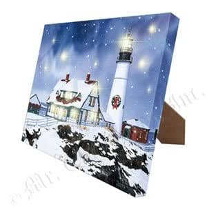 Gold label mr christmas illuminart canvas art - Lights to hang on wall ...