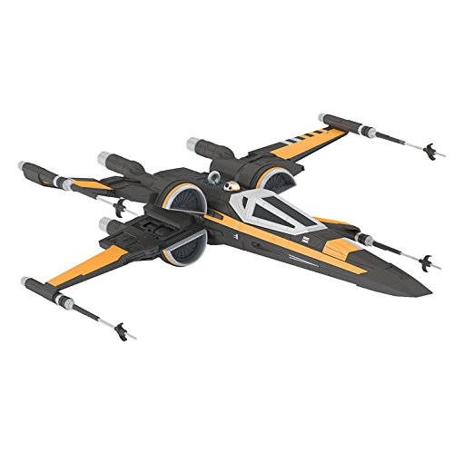 Hallmark Keepsake Star Wars The Force Awakens T-70 X-Wing Fighter Ornament with Sound, 4.23-Inch by 1.5-Inch by 4.89-Inch