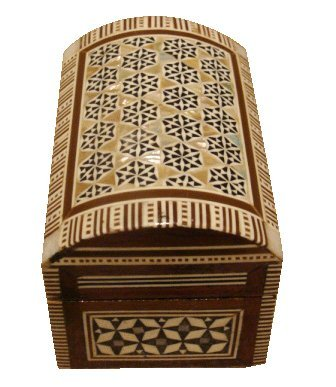 Egyptian Mosaic Jewelry Trinket Box Mother of Pearl BX10