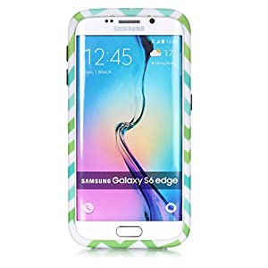 S6 Edge Case, Sophia Shop 3 in 1 Colorful Wave Patterned Hybrid High Impact Hard PC Case And Soft Silicone Triple Layer Protective Shockproof Anti-Scratch Cover For Samsung Galaxy S6 Edge (Black) from Welcome to Sophia shop,100% new product and high quali