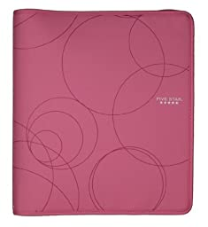 Five Star Zipper Binder, 1.5-Inch Capacity, Pink (72362)