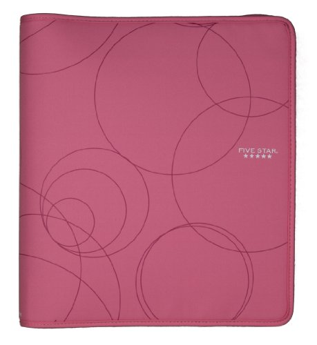 Zipper Binder 1.5 Inch Capacity Pink 3-ring Binder Full