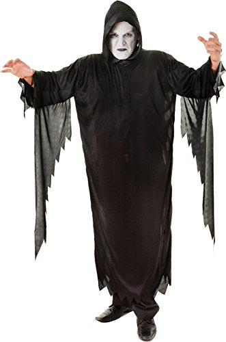 Horror Adult Fancy Dress Party Halloween Costume Black Demon Scream Outfit