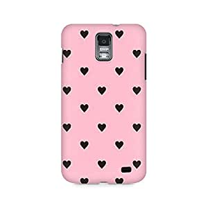 Ebby Pink Hearts Premium Printed Case For Samsung S2 I9100/9108