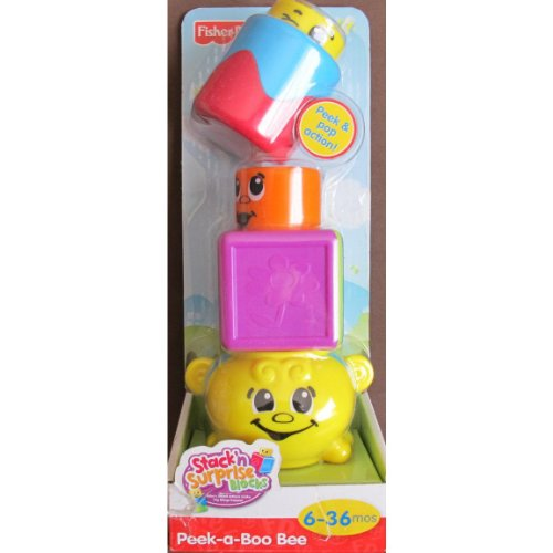 Fisher Price Stack 'n Surprise Blocks - Peek-a-Boo Bee