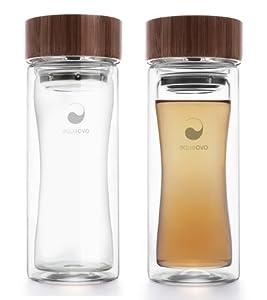 Aqua Ovo Therm-O Terra Glass Travel Mug