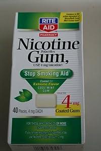 Rite Aid Nicotine Gum Stop Smoking Aid 2 Mg