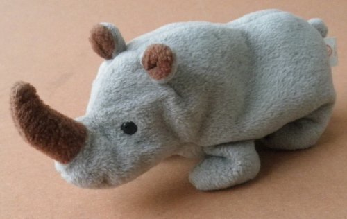 TY Beanie Babies Spike the Rhino Plush Toy Stuffed Animal - 1